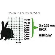 Elektrikarjuse võrk RabbitNet 0,65x12 m küülikutele
