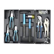 Tööriistakäru GEKO PREMIUM ratastel, 6 riiulit, 245 tööriista