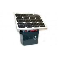 Aku- ja võrgutoitega elektrikarjus SecurSun päikesepaneeliga